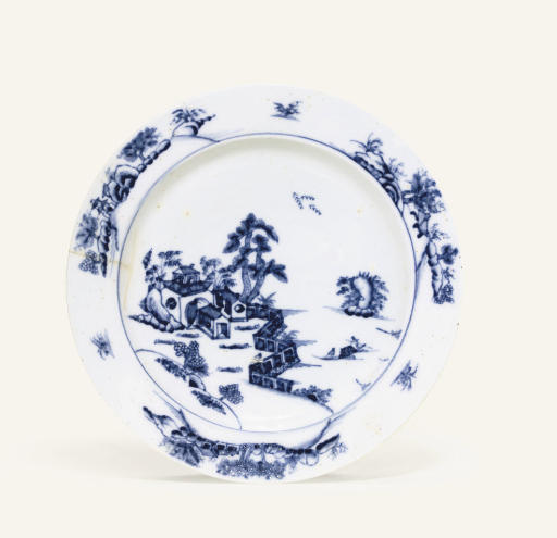 A KASSEL BLUE AND WHITE SOUP-PLATE