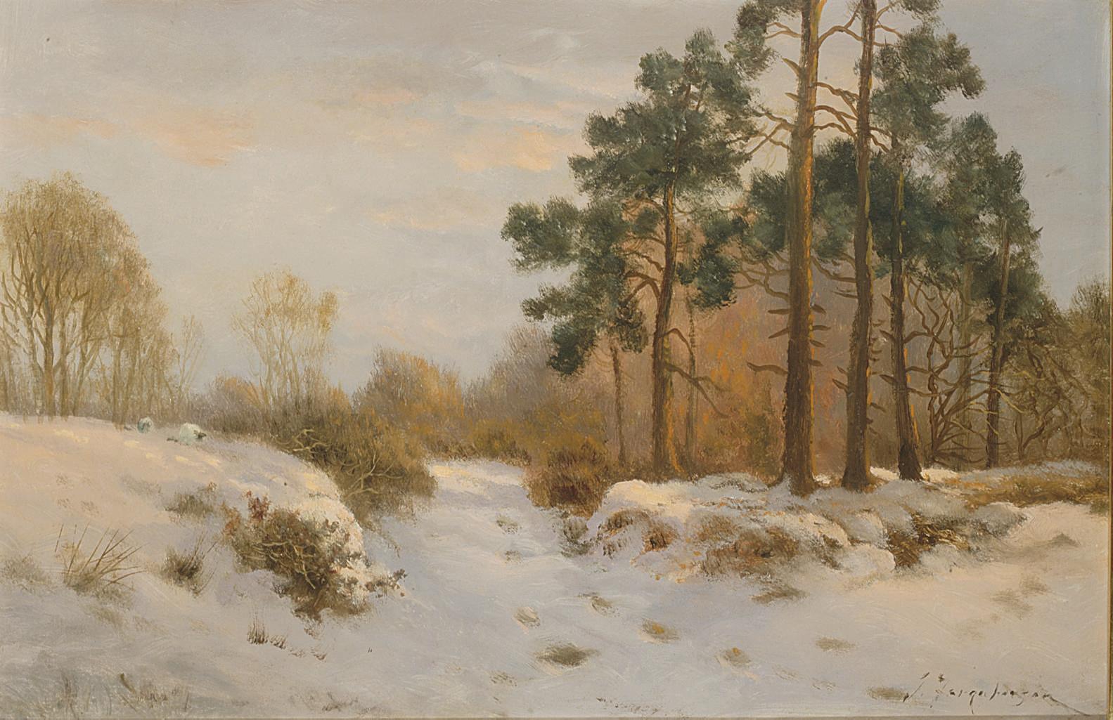 A Winter's Day, the Last Gleam