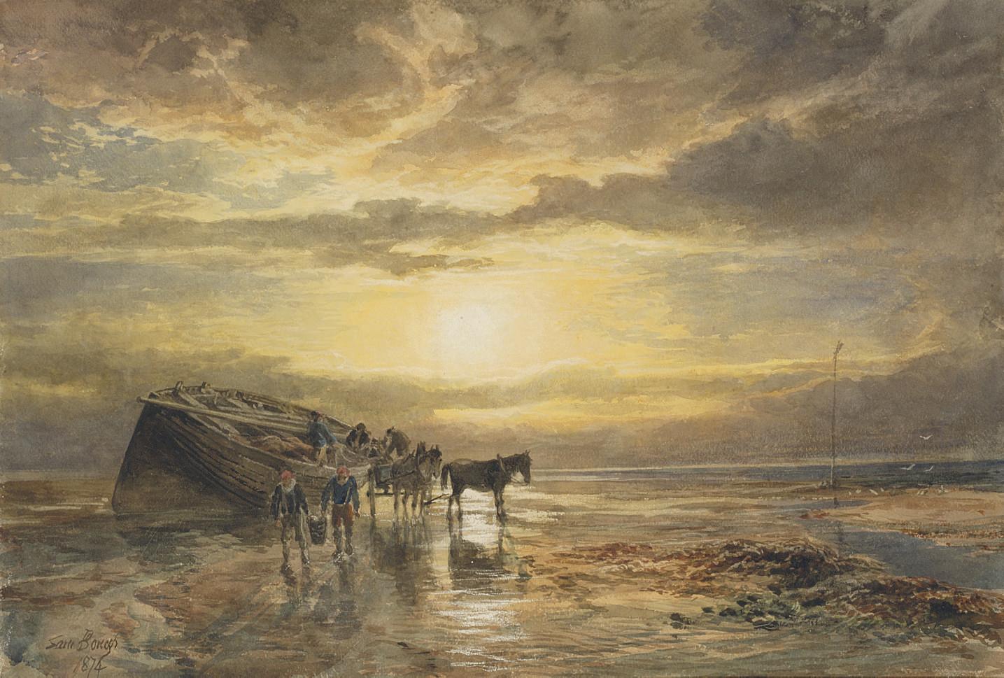 Loading the catch on the Berwick coast