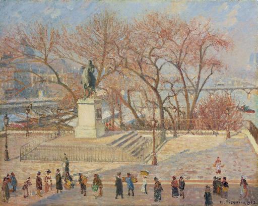 Statue d'Henri IV, matin, soleil (2e série)