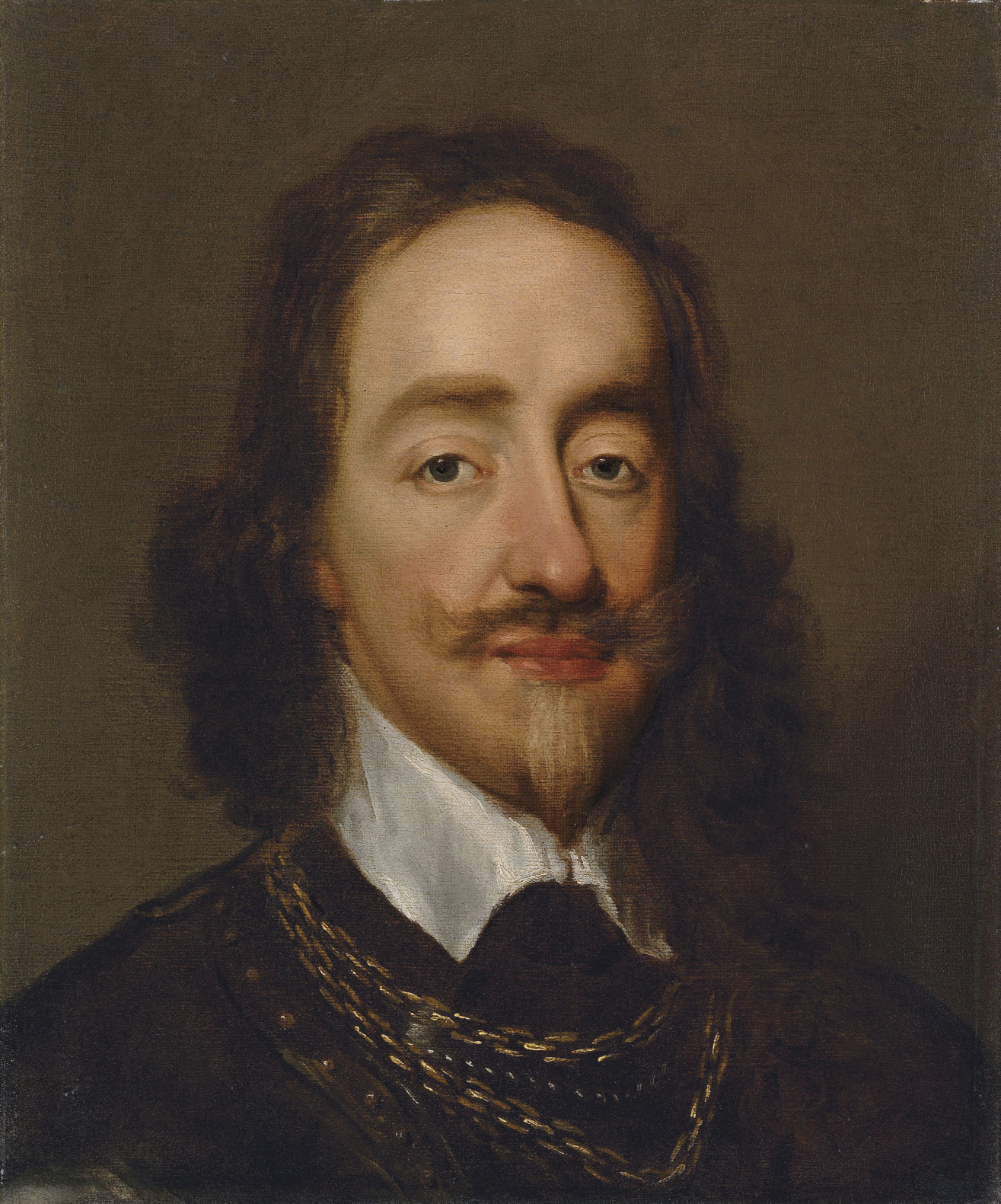 Portrait of King Charles I (1600-1649), bust-length, in armour