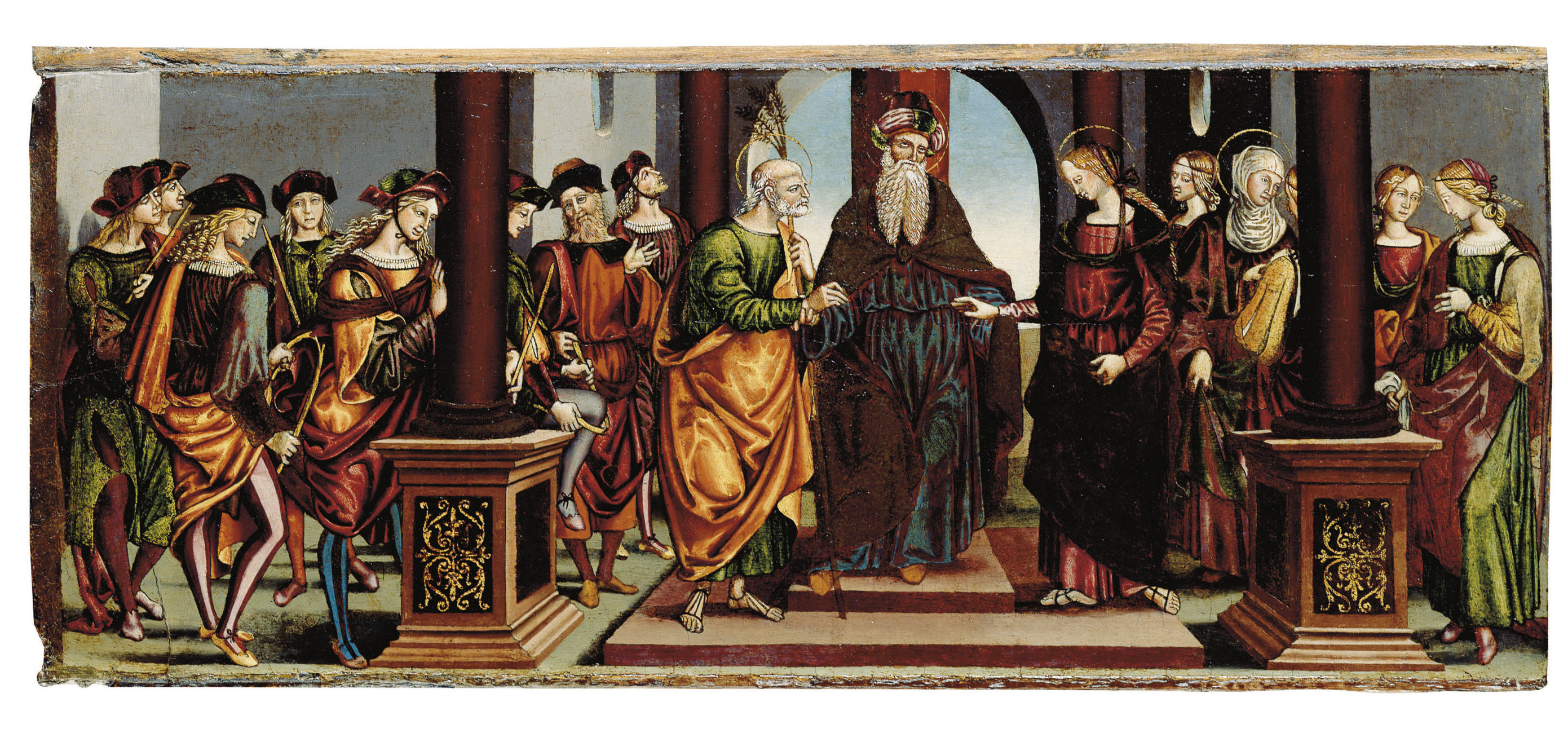 The Marriage of the Virgin: panel from a predella