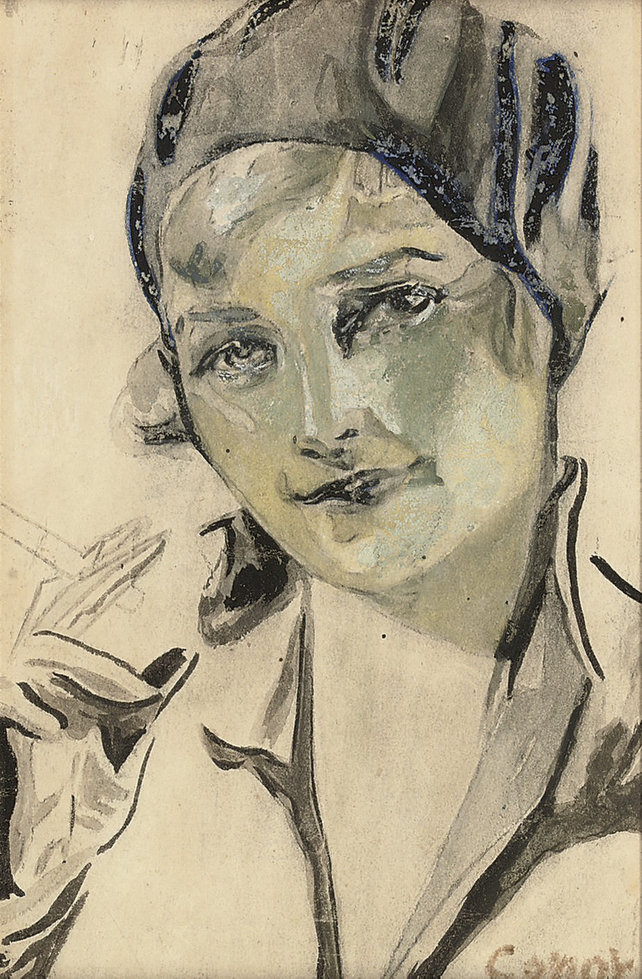 Young lady smoking