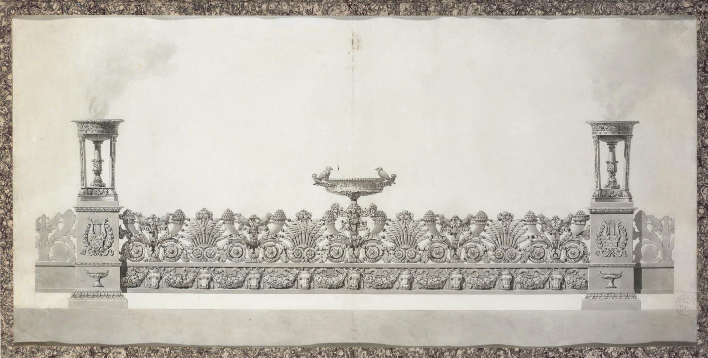 Design for an elaborate surtout-de-table