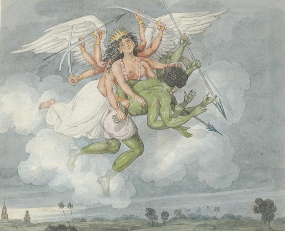 Tom Raw's dream of a winged Hindu deity