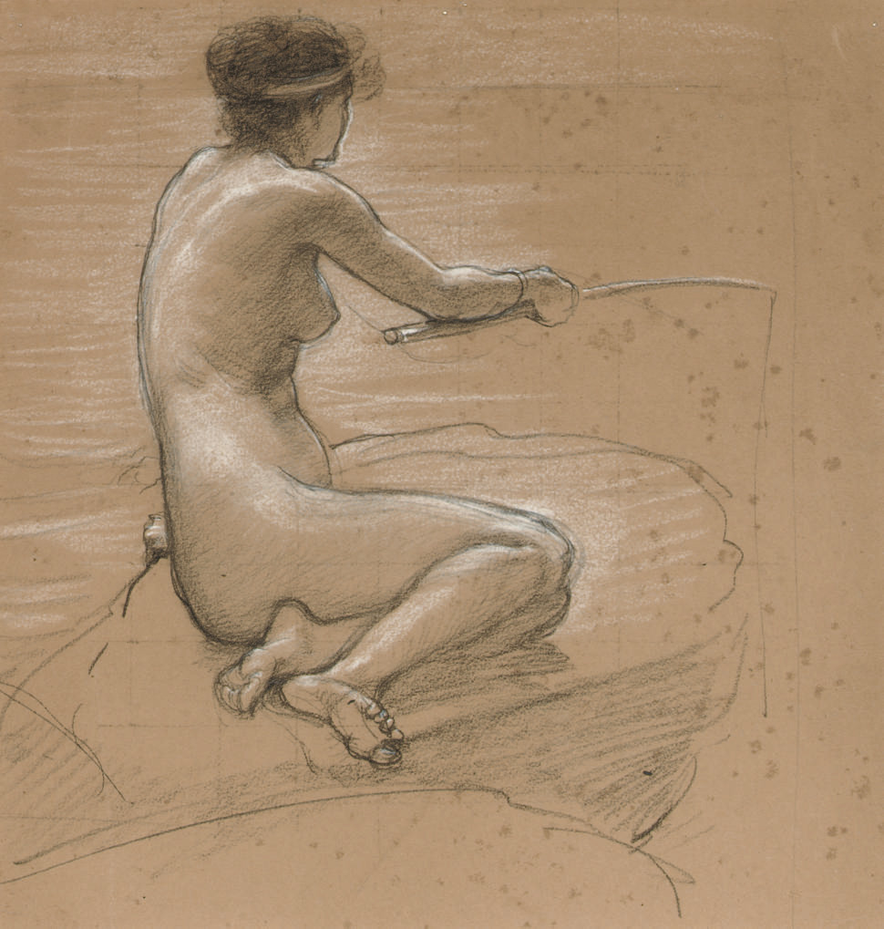A study of a nude for 'A Nymph of the Stream'