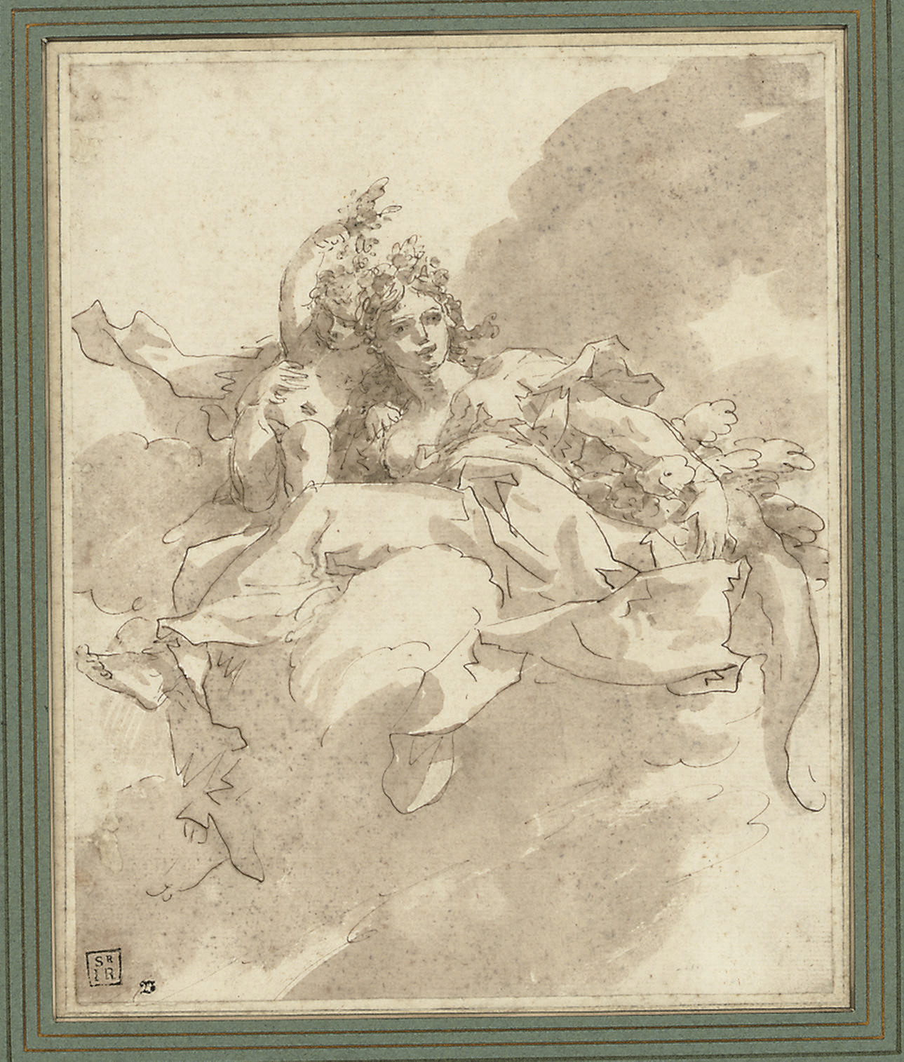 Study of an angel and a putto
