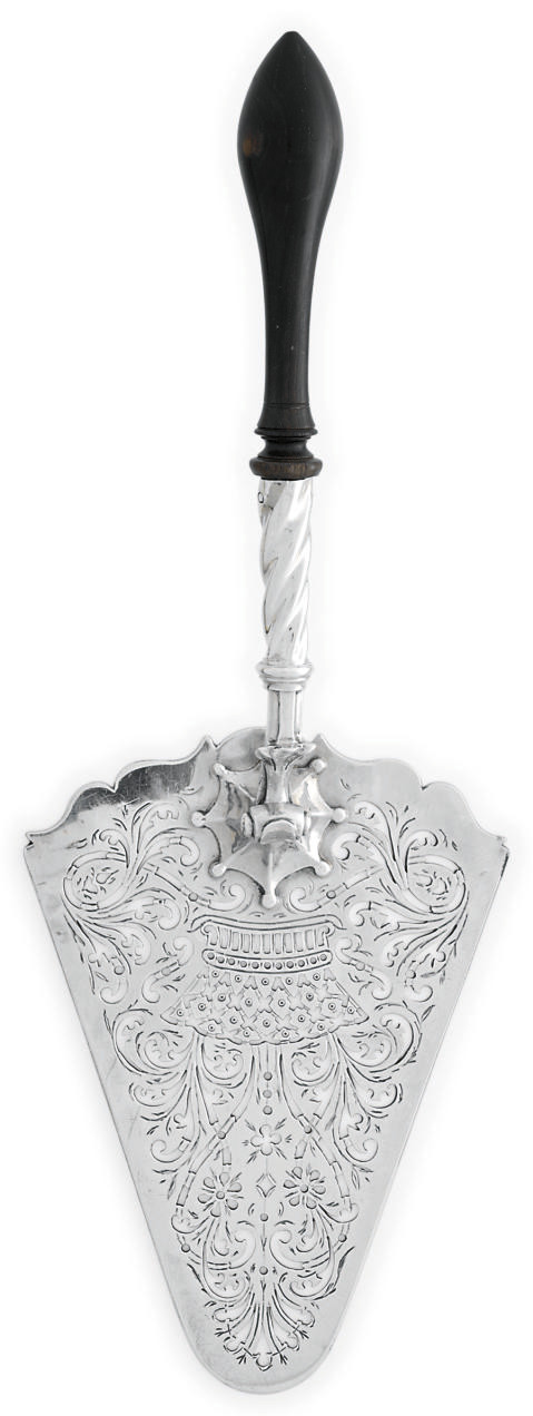 A GEORGE III SILVER FISH-SERVER