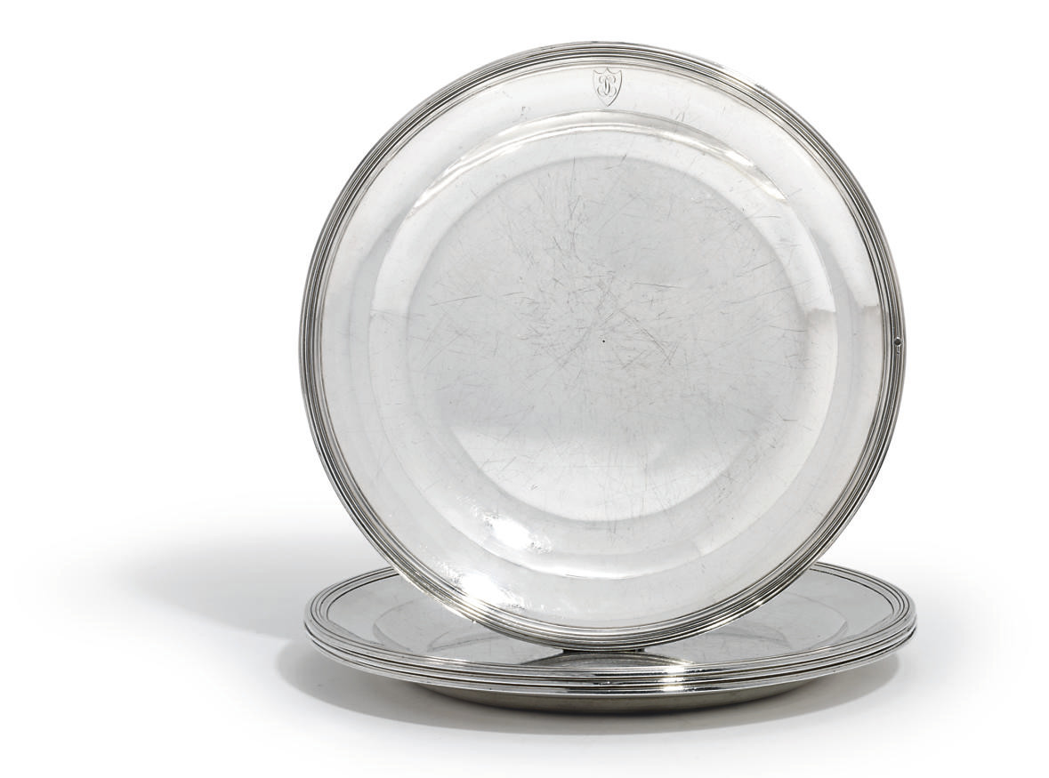 A SET OF FOUR FRENCH SILVER SECOND COURSE-DISHES