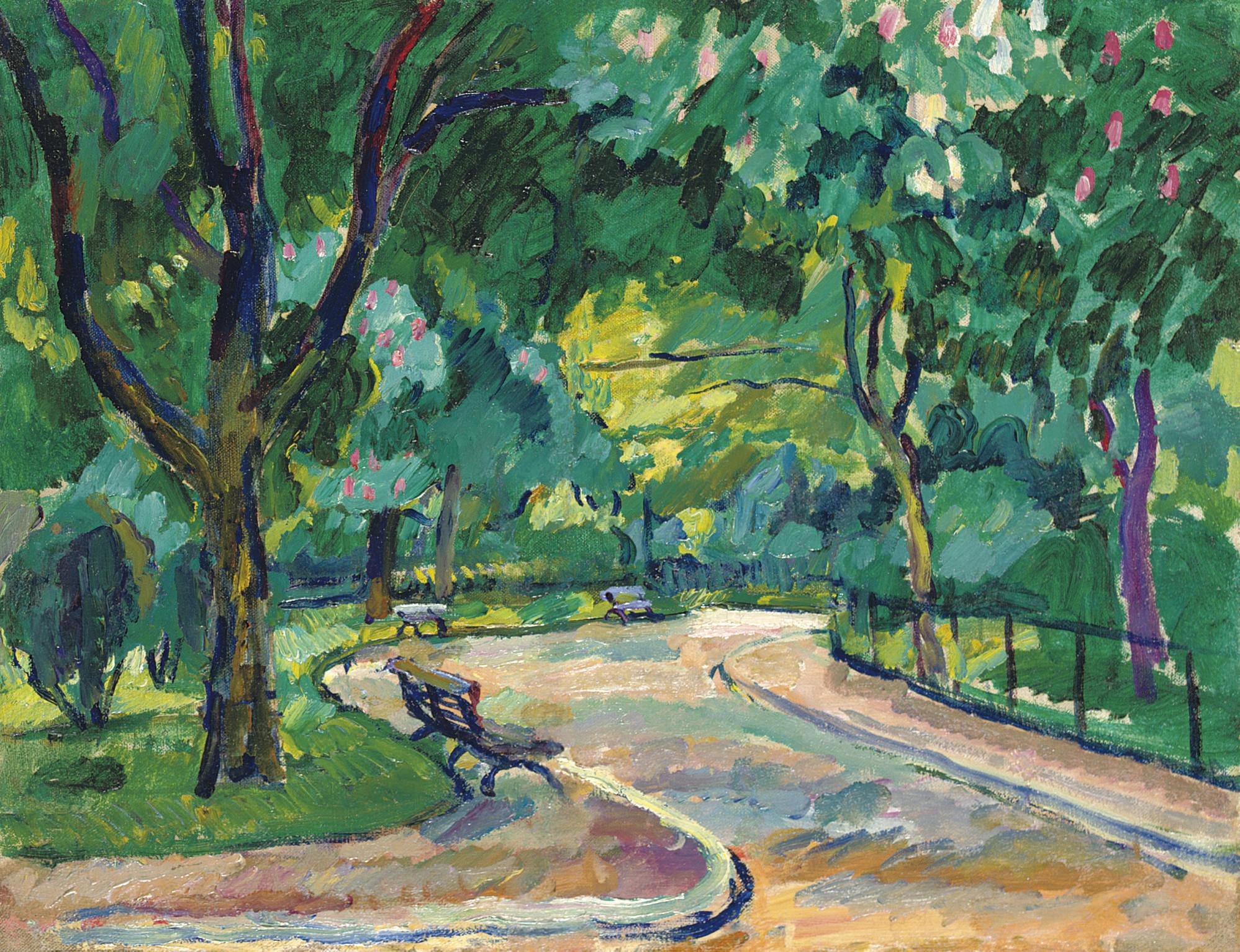 France. Parc Montsouris. Chestnut tree