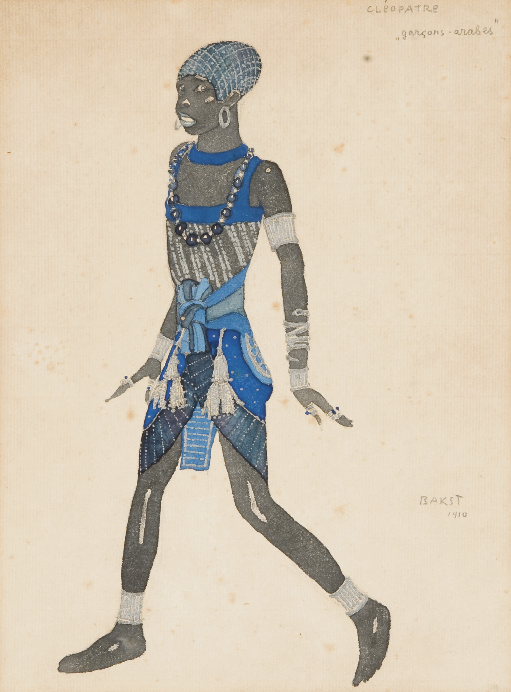 A costume design for Cléopâtre: Le Petit Négrillon
