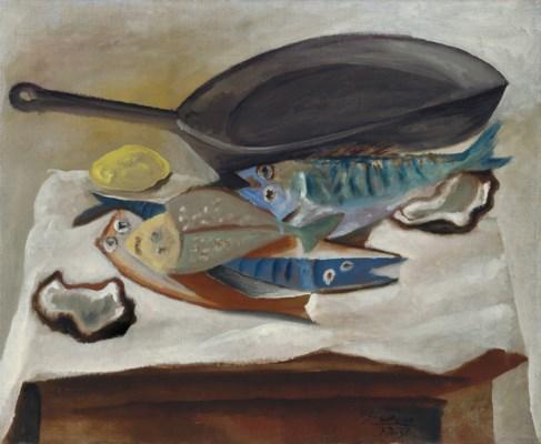 Pablo Picasso (1881-1973) | Nature morte. Poissons et poêle ...