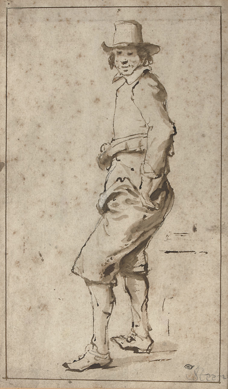 A young man wearing a hat, turned to the left