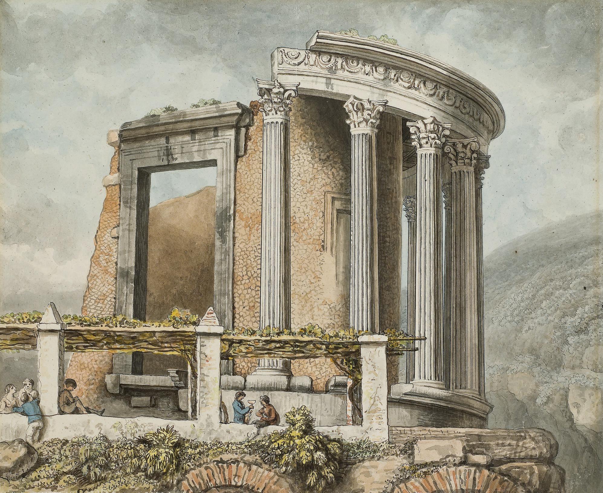 The temple of the Sibyl at Tivoli