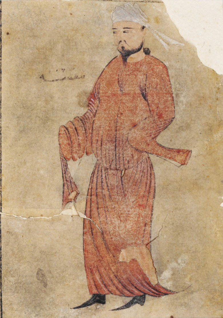 A Dervish, Ilkhanid Iran, first half 14th century. Miniature 5⅛ x 3⅝ in (13 x 9.4 cm). Sold for £9,375 on 7 October 2008  at Christie's in London
