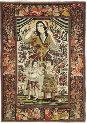 A PICTORIAL ISFAHAN RUG