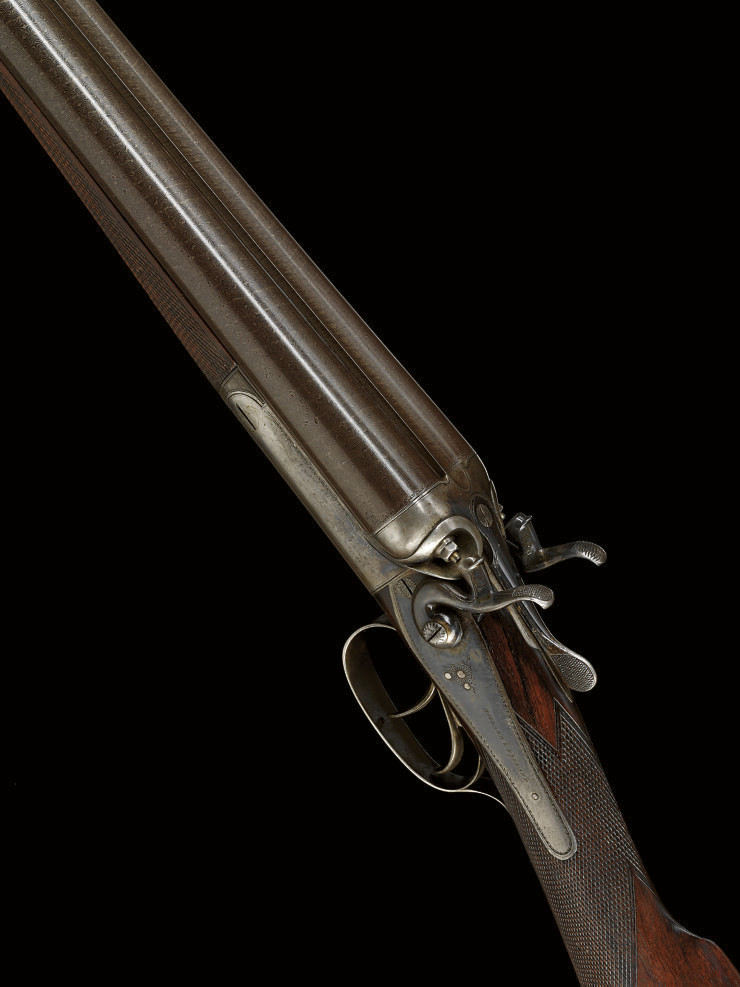 A 12-BORE HAMMER GUN BY HOLLAND & HOLLAND, NO. 11216