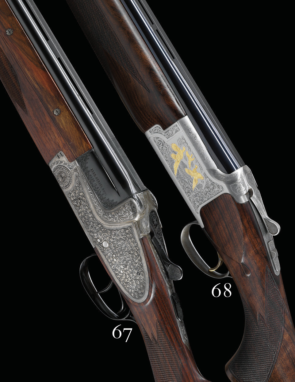 AN AS NEW 12-BORE '203 E' MODEL OVER-AND-UNDER SIDELOCK EJECTOR GUN BY GEBRUDER MERKEL, NO. 90601