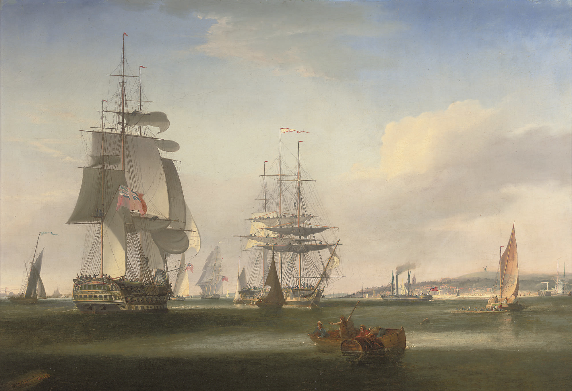 Shipping in the Thames off Gravesend