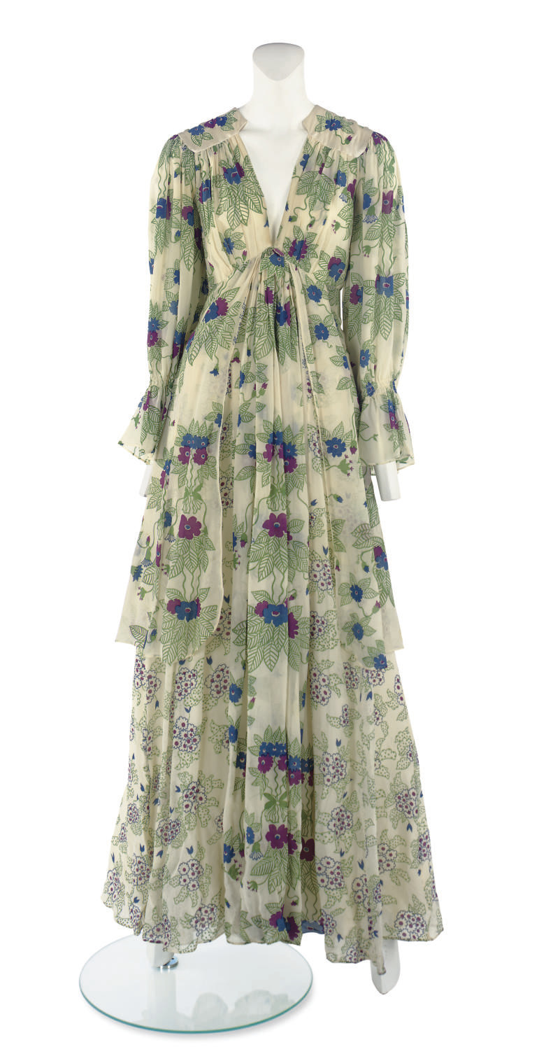 OSSIE CLARK (1942-1996) & CELIA BIRTWELL (B.1941) A LONG-SLEEVED DAY DRESS