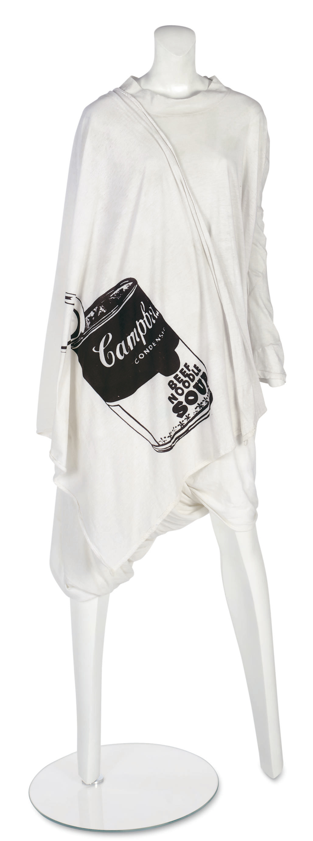 WORLD'S END (F.1981)     A 'NOSTALGIA OF MUD' (BUFFALO) COLLECTION TOGA DRESS WITH 'WARHOL' PRINT
