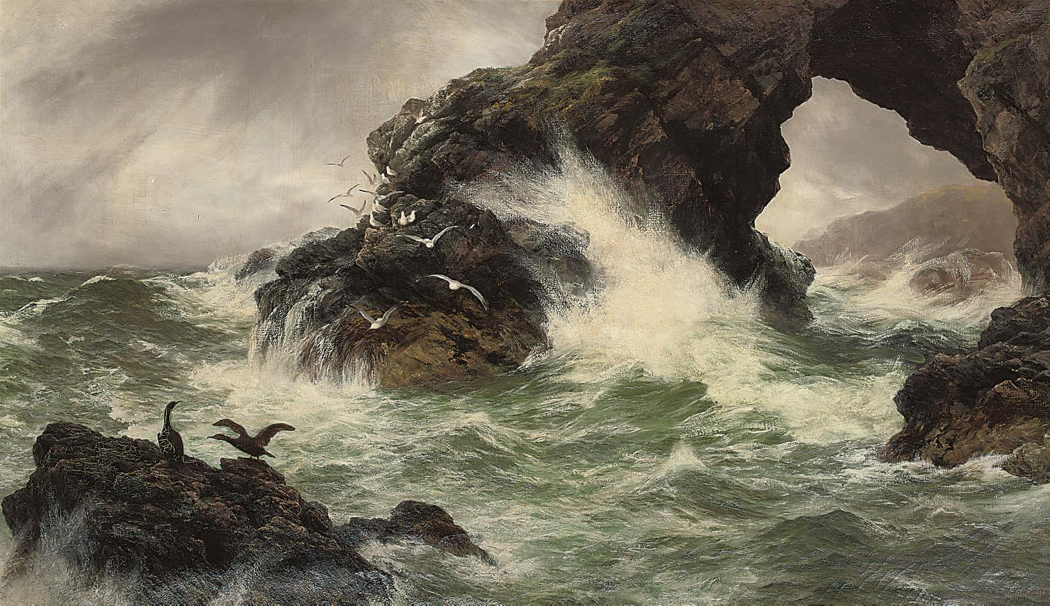 Sea worn rocks