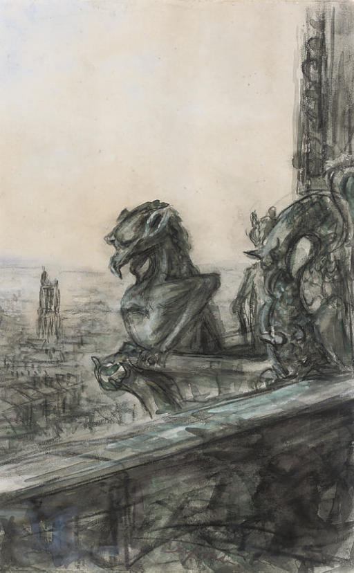 The gargoyles of Notre Dame Cathedral