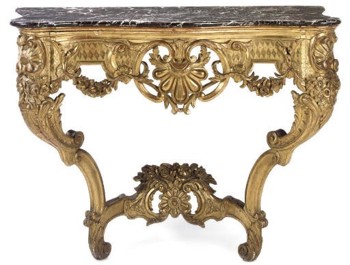 A FRENCH CARVED GILTWOOD SERPE