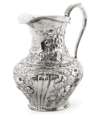 AN EARLY VICTORIAN SILVER MILK