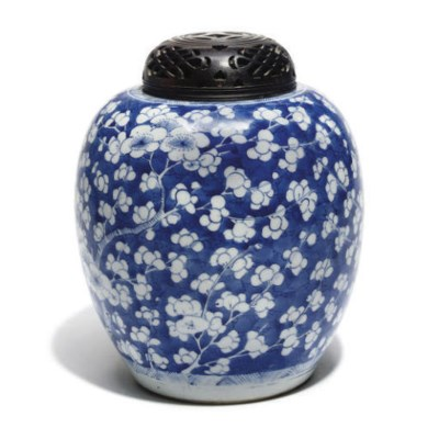 A Chinese blue and white 'prun