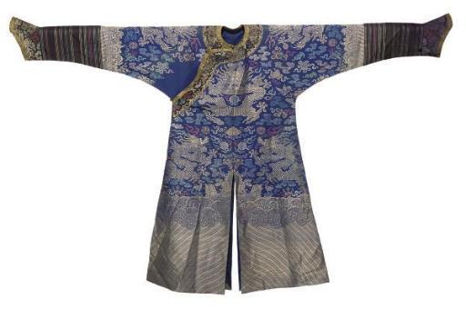 A CHIFU COURT ROBE OF BLUE SIL