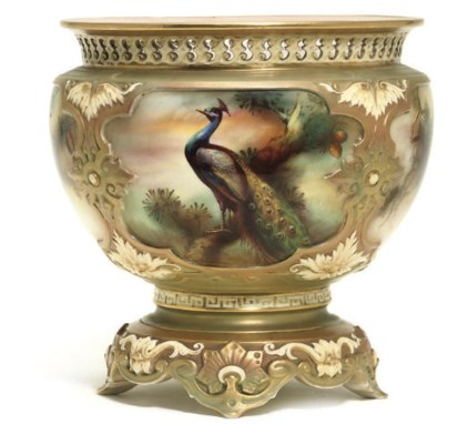 A ROYAL WORCESTER JARDINIERE