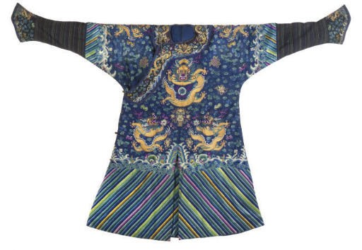 A BLUE COURT ROBE, LATE 19TH C