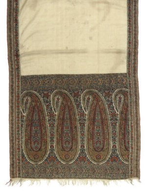FOUR 19TH CENTURY SHAWLS, INCL