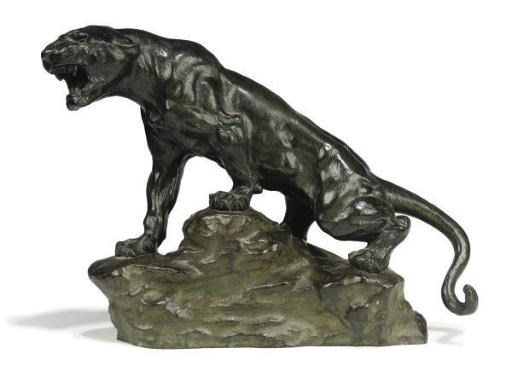 A FRENCH BRONZE OF A LIONESS
