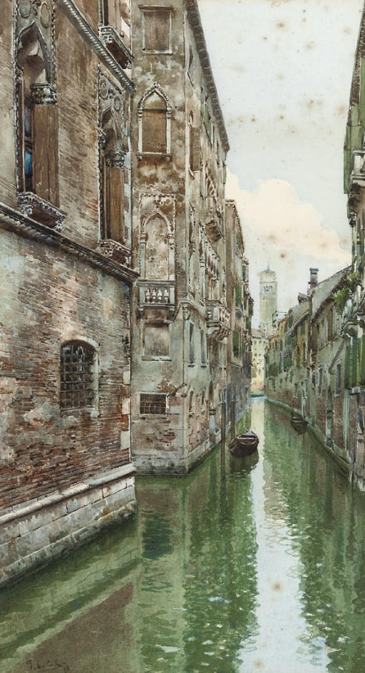 A Venetian backwater (illustrated); and The Bridge of Sighs, Venice