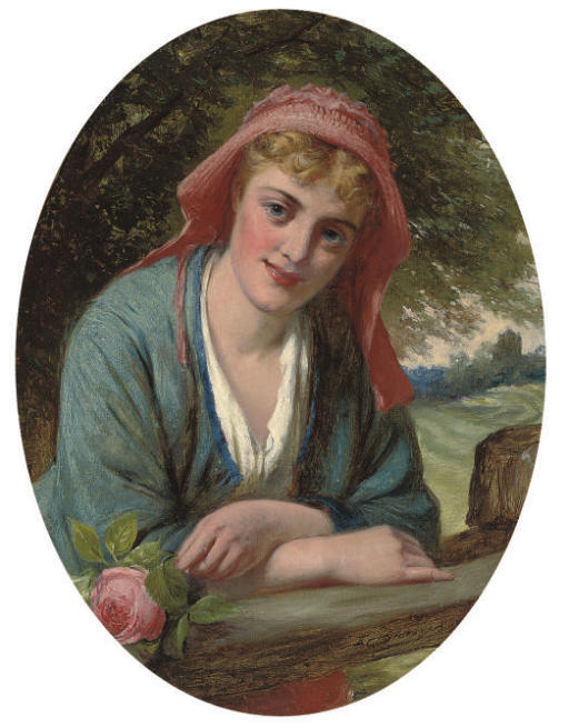 A maiden with a rose