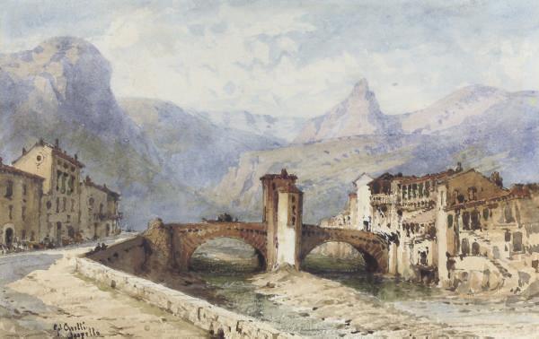 An Italian mountain village