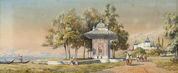 A fountain on the shores of the Bosphorous