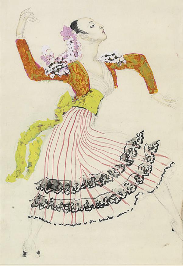Costume design for Flamenco dancer