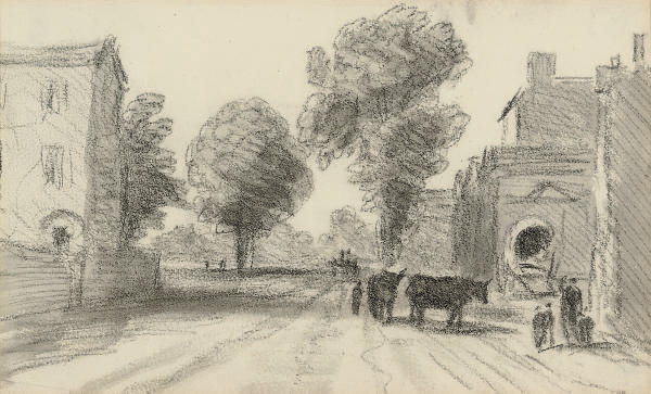 The approach to Brook Green, London.