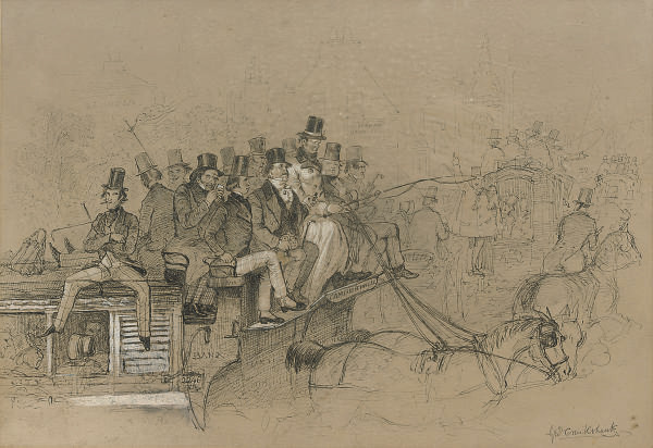 The coach to Camberwell; and The coach to Elephant and Castle