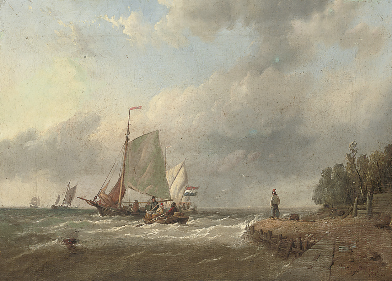 A blustery day off the Dutch coast