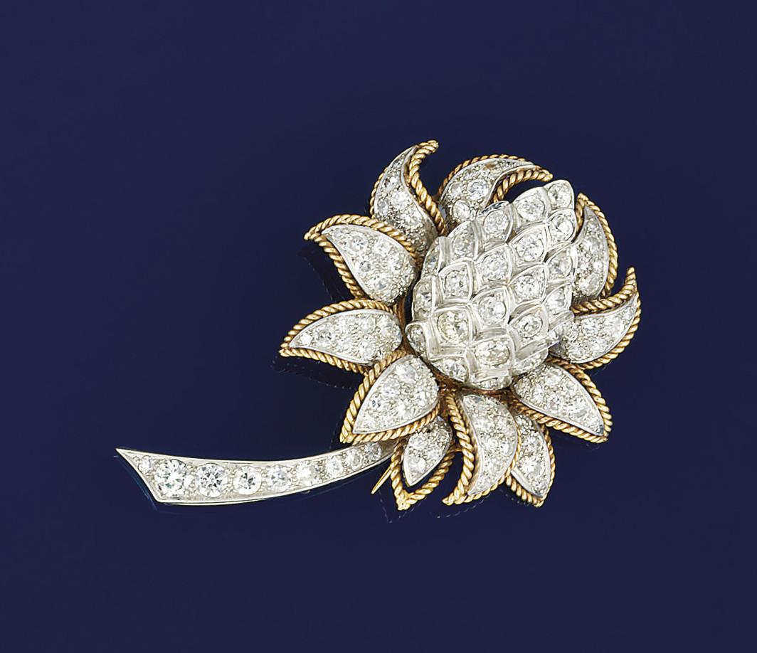 A diamond brooch, by Vourakis