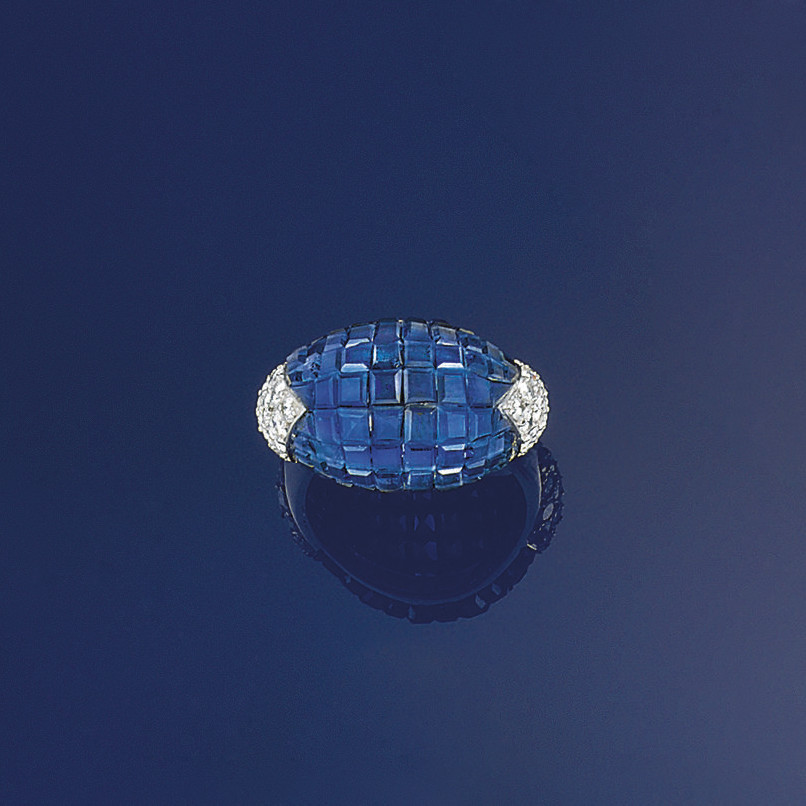 A sapphire and diamond ring, by Kern