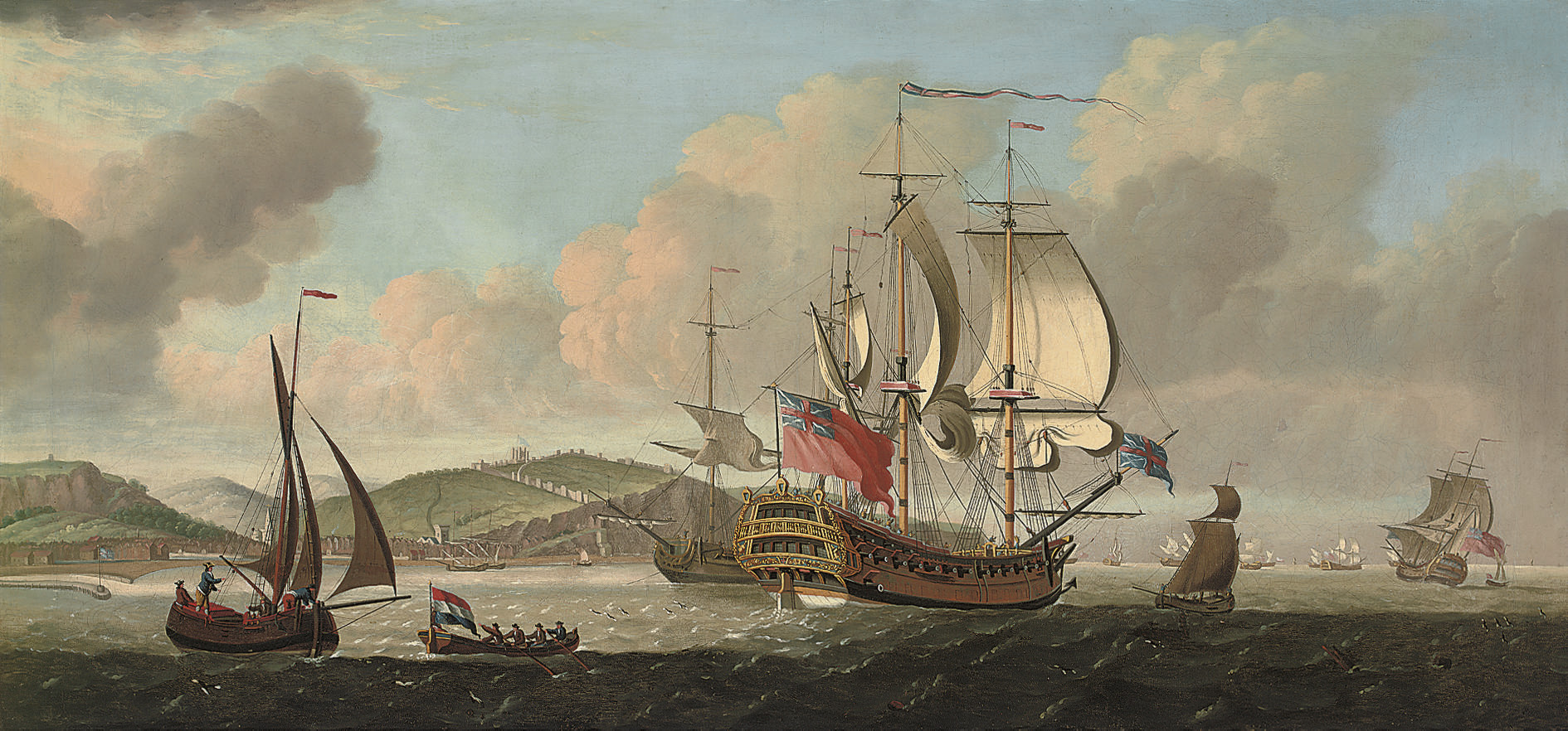 A Squadron of the Red in the Channel off Dover