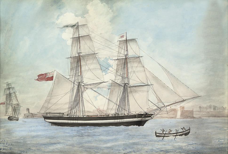The brig Devonian of Sunderland in Maltese waters