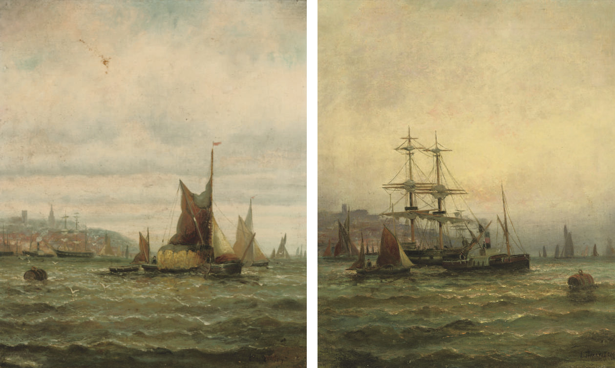 A hay barge and other shipping on the Medway; and Shipping on the Medway (both illustrated)