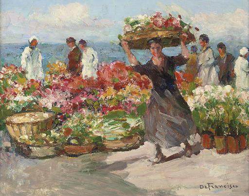 Marché aux fleurs à Menton
