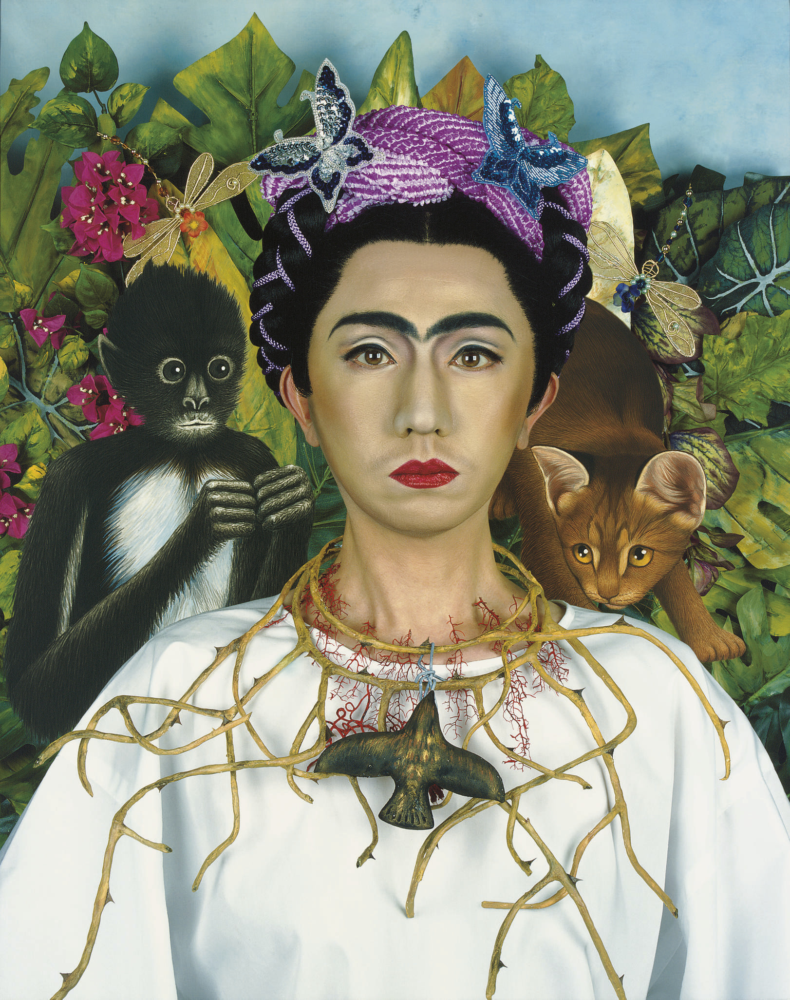 An Inner Dialogue with Frida Kahlo (Collar of Thorns)
